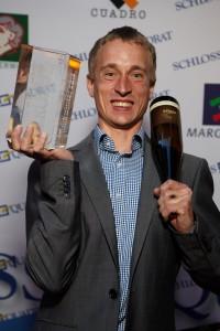 Schlossquadrat Trophy 2015: Willy Klinger, Sieger Christoph Berger, Weingut Berger, Röschitz, NÖ